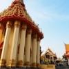 山頂にある観音堂・中国寺院・タイ寺院が同じ敷地に建つ:ワッ…