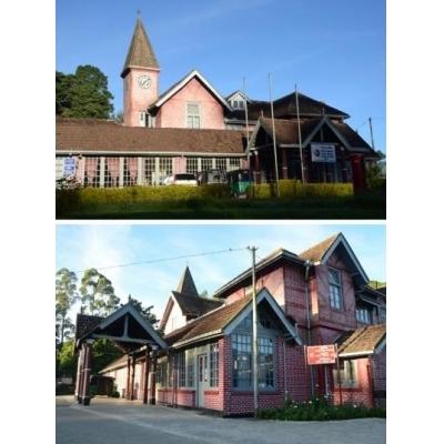 1828年建造のヌワラエリヤの郵便局はレトロ可愛い外観。